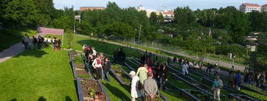 Kumpulan kasvitieteellisen puutarhan avajaisissa 2009. Kuva Jouko Lehmuskallio
