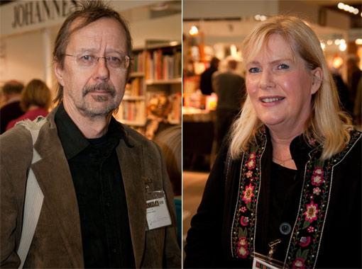 Jouko ja Eija Lehmuskallio Helsingin kirjamessuilla 2010.